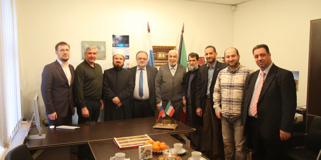 Visit by delegation of the World Union of Muslim scientists of the Moscow center